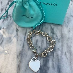 Tiffany & Co. heart charm tag bracelet
